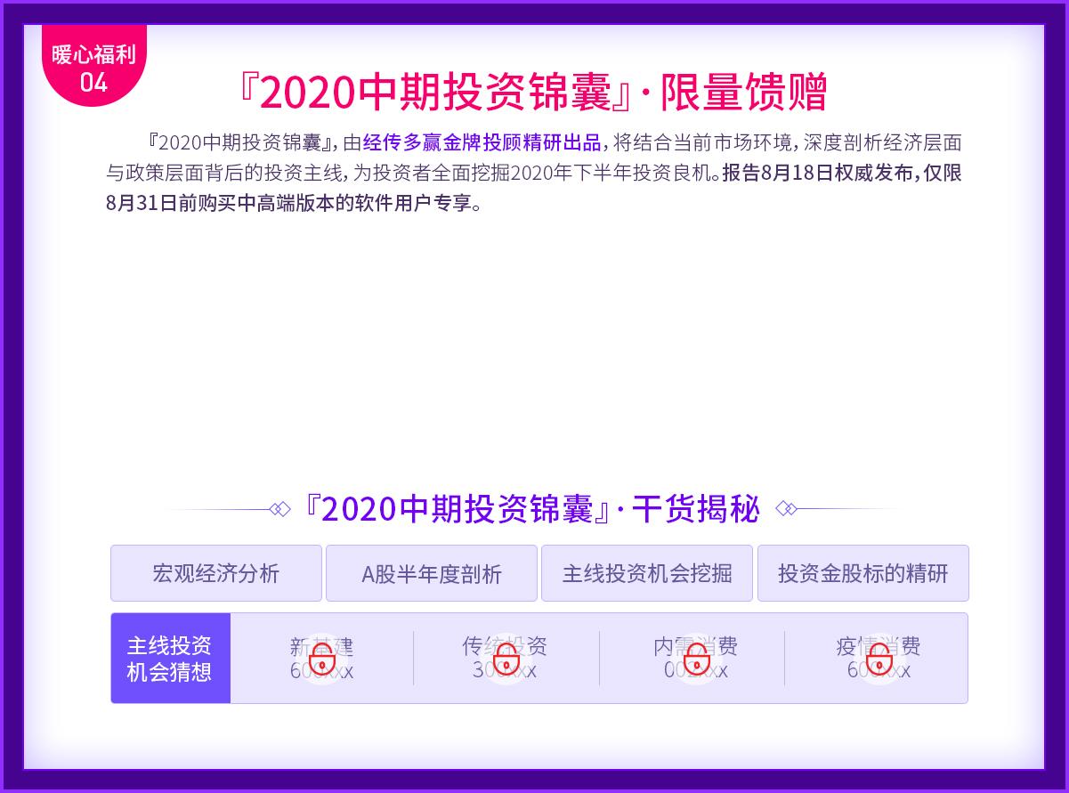 『2020中期投资锦囊』·限量馈赠